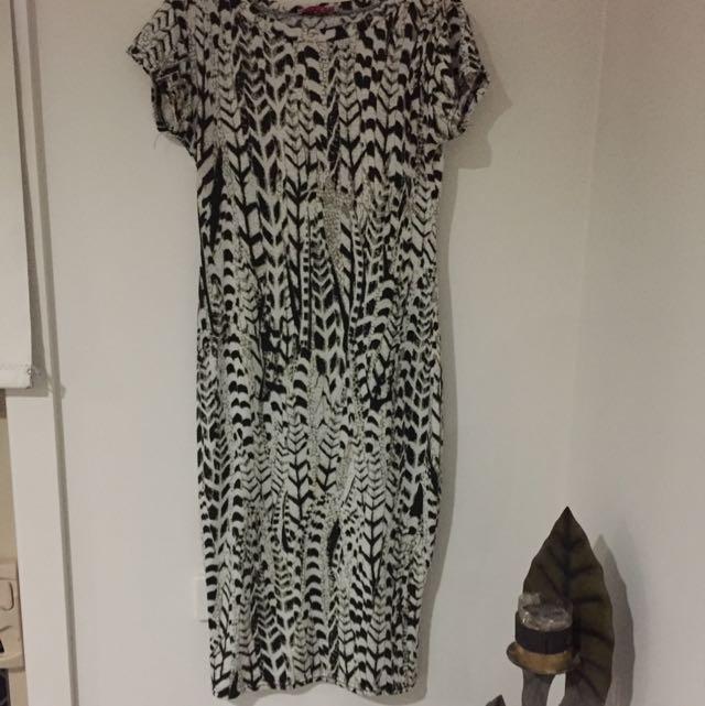 Snake pattern dress