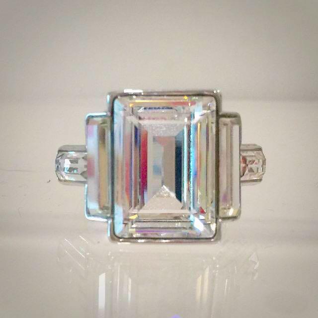 Swarovski Emerald Cut Crystal Ring ba60e09adc