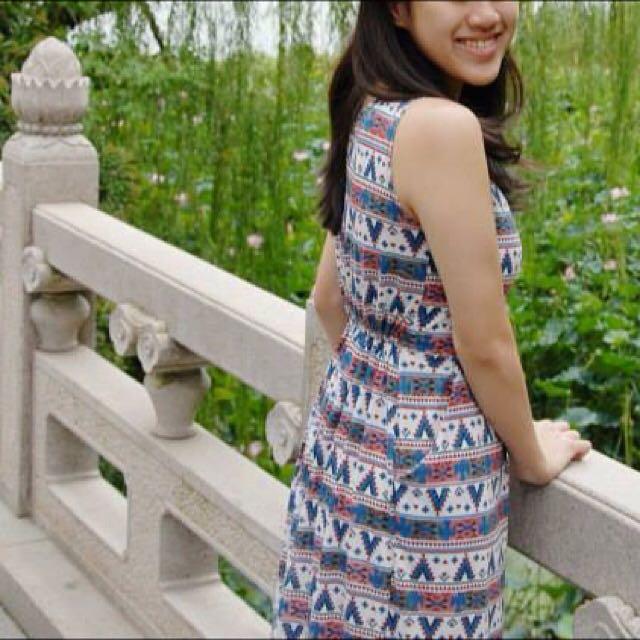 Tribal Long Dress