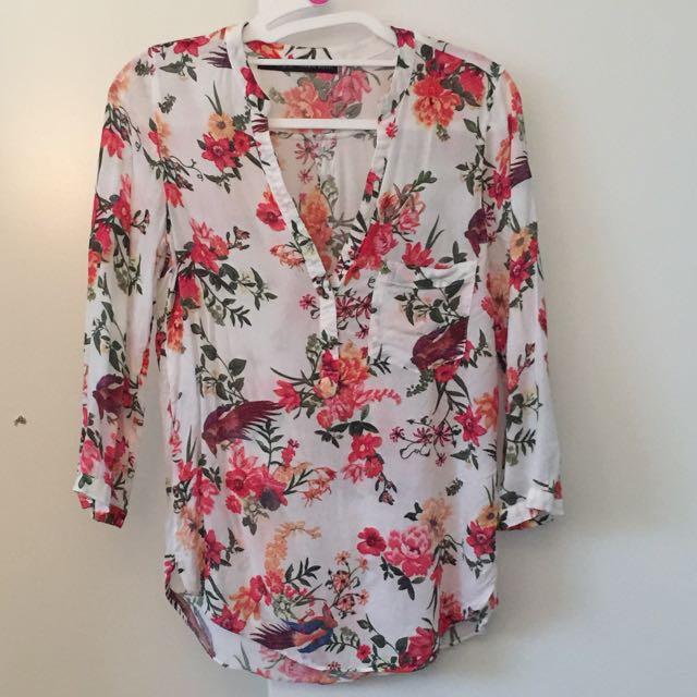 Zara Ladies Shirt/too, Size Xsmall (8)