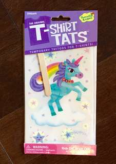 NEW! TEMPORARY TATTOO FOR CLOTHING - PERFECT FOR KIDS AND ADULTS!