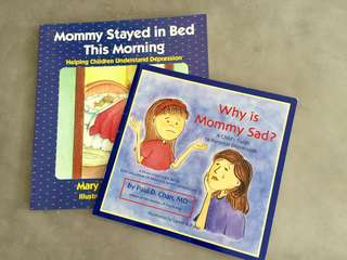LIKE NEW: EXPLAINING MOM'S DEPRESSION TO KIDS (PRICE IS FOR BOTH)