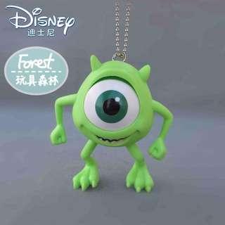 【Forest】現貨 迪士尼怪獸電力公司 大眼仔零錢包吊飾/鑰匙圈大眼怪怪獸大學毛怪阿布公仔麥克華斯基
