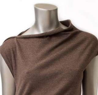 Brunello Cucinelli Italy Lightweight Wool Brown Sleeveless Dress