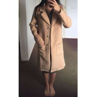 NWT Madison Square Camel Coat Sz 6-8
