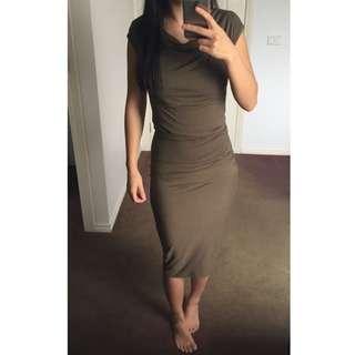 NWT Seed Olive Green Kim K Style Dress