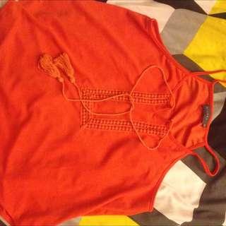 Valley Girl Orange Top