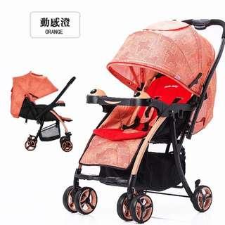 免運優惠2016年最新款Hope嬰兒推車雙向輕便可坐可躺睡折叠避震兒童手推車