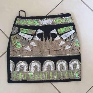 Sequin Skirt, Size 8