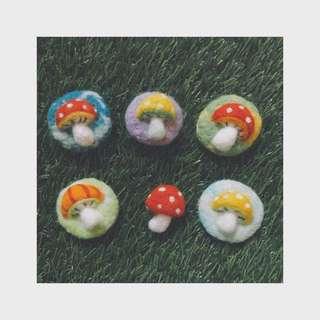 〆手作〆 🍄蘑菇胸針🍄