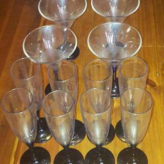 Genuine TUPPERWARE champagne flutes and coctail glasses