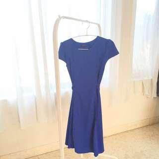 New Royal Blue Skater Dress