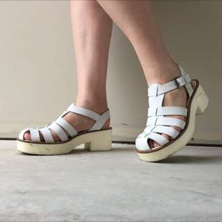 White Windsor Smith Lily Shoes AUS 7
