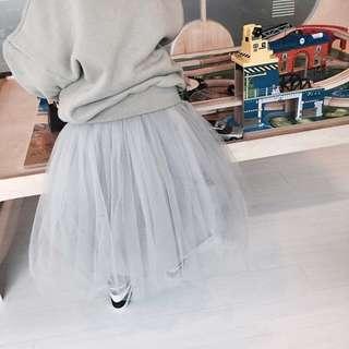 全新✨韓國空運正韓MARYANN白色泡泡紗長裙尺寸L 3-4歲童裝