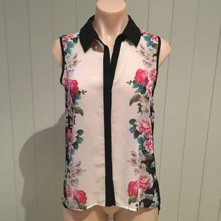 Floral Lipsy London Button Up Shirt 8