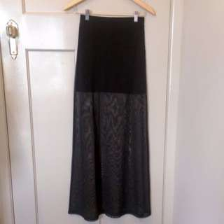 H&M Sheer Maxi Skirt