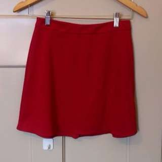 ASOS Red A-Line Skirt