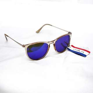 Le Specs Blue Mirror Sunglasses