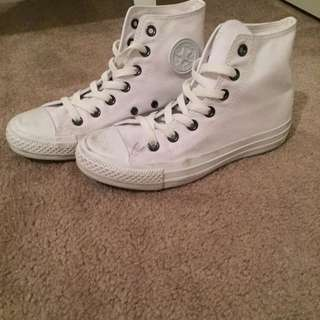 Converse All White High Tops