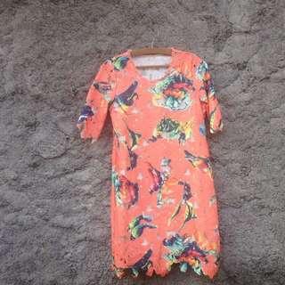 Dress Orange Birdy