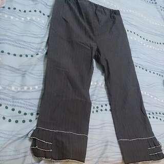 2手大尺碼7分褲孕婦褲