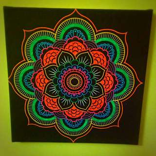 Patten Drawing On Canvas