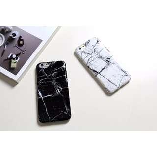 黑白簡約大理石紋手機殼(軟殼)