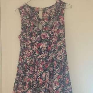 Temt Floral Cutout Dress Sz10