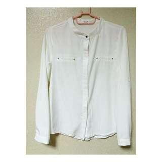 [OL約會必敗款]雙邊假式口袋設計襯衫