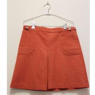 Hot Options Skirt in Orange (Size 10)