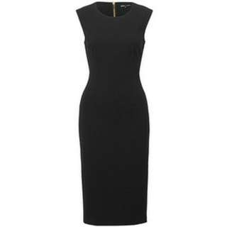 Dannii Minogue Classic Black Sheath Dress