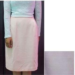 Pink Textured Skirt