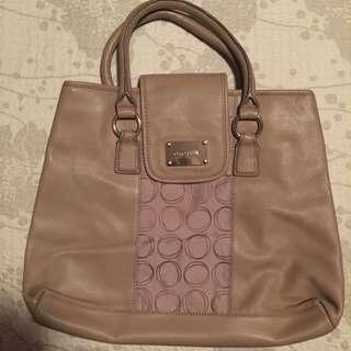Oroton Nude Leather Tote Bag