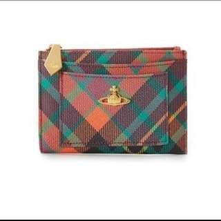 英國時尚品牌 Vivienne Westwood 土星環 經典格紋鑰匙包 零錢包 隨身小包 現貨