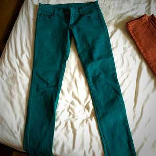 綠牛仔褲M號