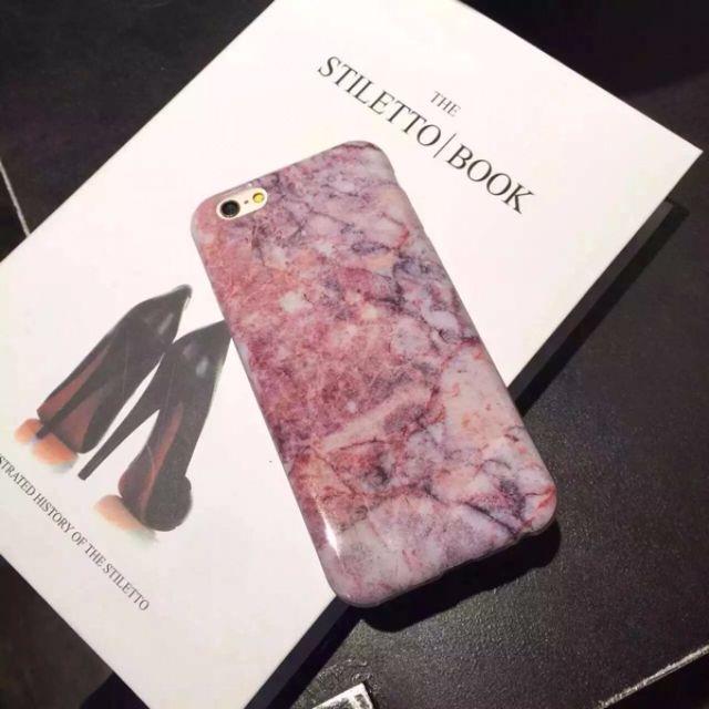 粉紅大理石紋手機殼(軟殼)
