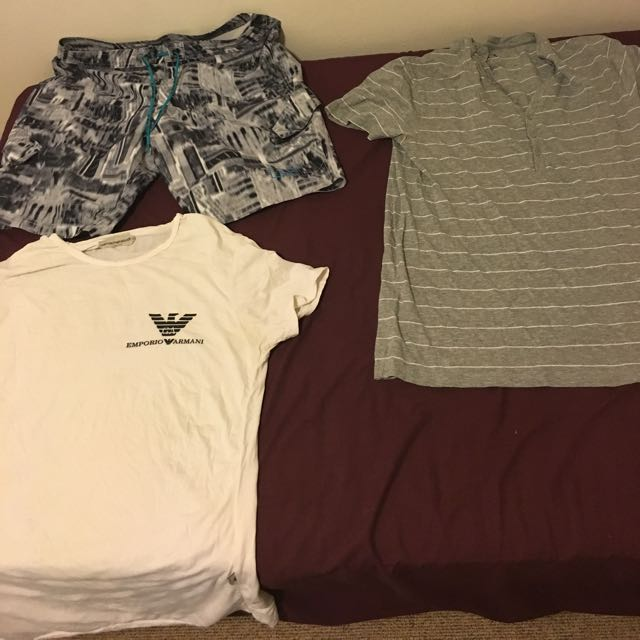 Armani Shorts And A Pair Of Armani Tees