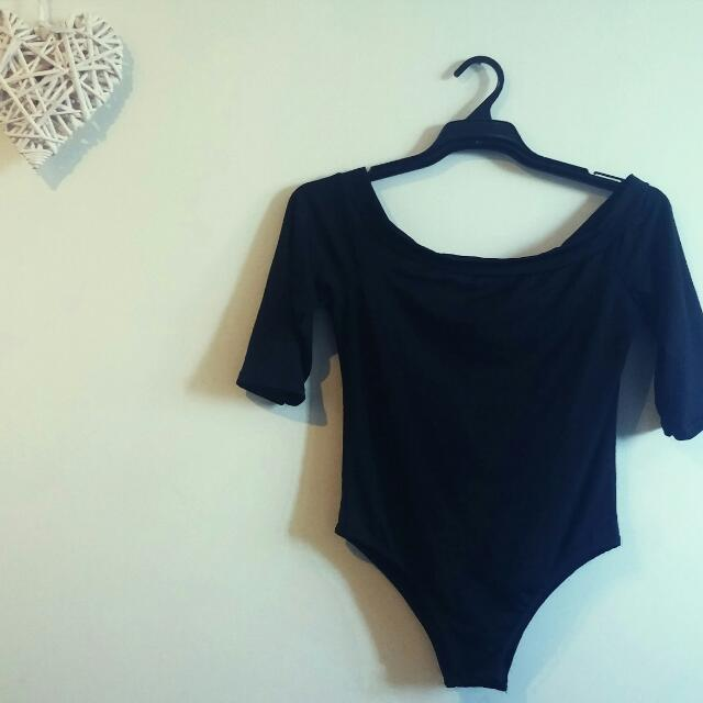 Black Bodysuit. Off The Shoulder. Size 10