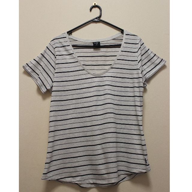 Bonds Relax Scoop Striped T-Shirt in Black and White (Size M)