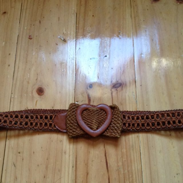 Brown Heart Belt