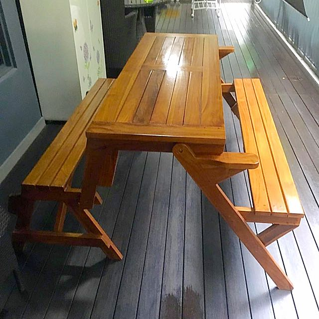 convertible bench/table, furniture on carousell