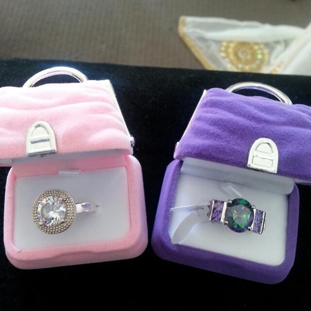 Cute Velvet Handbag Ring Boxes