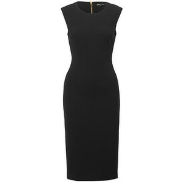 Dannii Minogue Classic Black Sheath Dress