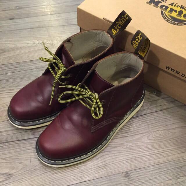 Dr.Martens 馬丁大夫 MANTON 深咖啡色 全皮革 沙漠靴 短靴 兩孔靴 絕版品 8.5成新💥 UK 4 EU37 已送洗✨ 免運費