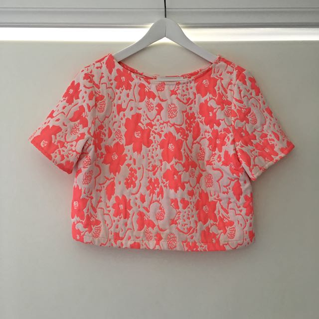 Finders Keepers Crop Top Floral Pink Size Small