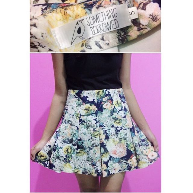 Floral Skirt From Zalora