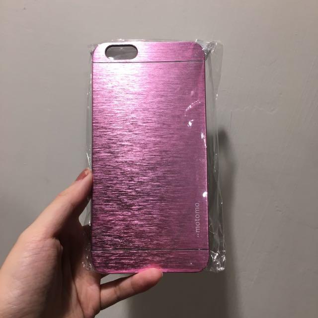 i6plus 粉紅髮絲紋手機殼