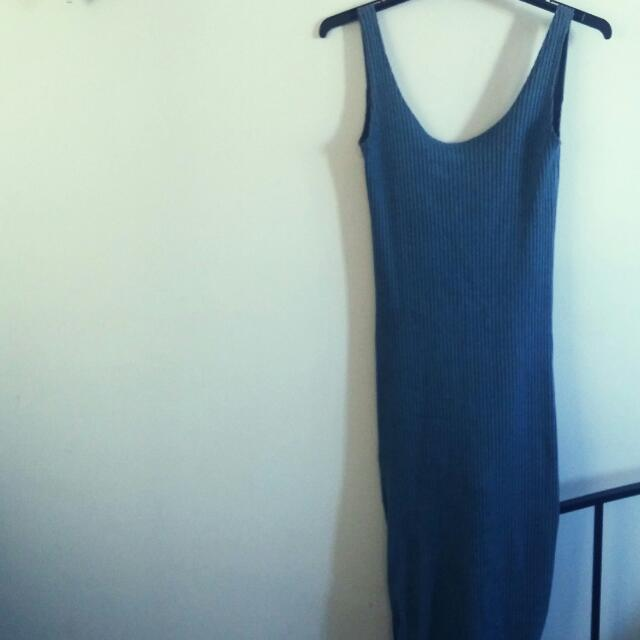 Knitted Knee Length Dress. Size 10