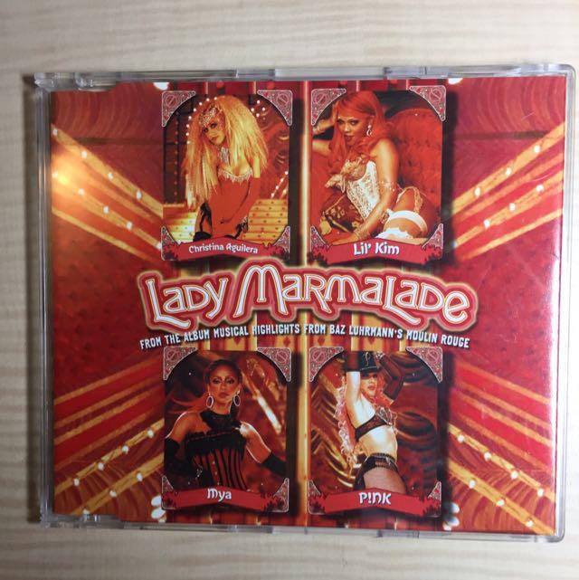 紅磨坊主題曲lady Marmalade 單曲CD