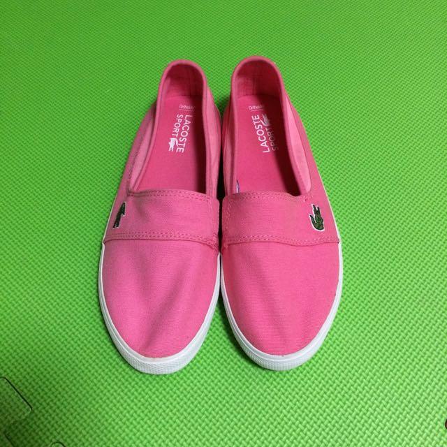 全新locoste鱷魚帆布鞋懶人鞋休閒鞋